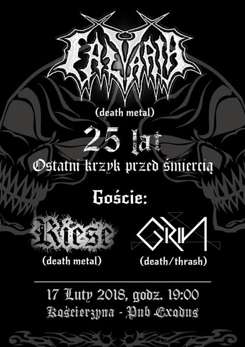 Calvaria plakat koncert 2018 bilety